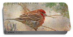 Finch Greeting Card Father's Day Portable Battery Charger by Debbie Portwood