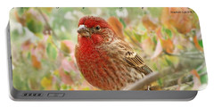 Finch With Verse New Version Portable Battery Charger by Debbie Portwood