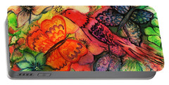 Portable Battery Charger featuring the painting Finding Sanctuary by Hazel Holland