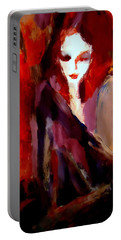Portable Battery Charger featuring the painting Finesse by Helena Wierzbicki