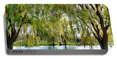 Finger Lakes Weeping Willows Portable Battery Charger by Mitchell R Grosky