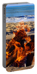 Portable Battery Charger featuring the photograph Fire At The Beach by Mariola Bitner