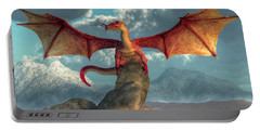 Fire Dragon Portable Battery Charger by Daniel Eskridge