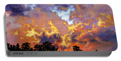 Fire In The Sky Portable Battery Charger by Craig T Burgwardt