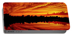 Fire In The Sky Portable Battery Charger by Jason Politte