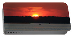 Portable Battery Charger featuring the photograph Fire In The Sky by Karen Silvestri