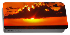 Fire In The Sky Portable Battery Charger by Patti Whitten