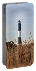 Portable Battery Charger featuring the photograph Fire Island Tower by Karen Silvestri