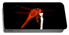 Portable Battery Charger featuring the photograph Fire Red Dragon by Peggy Franz