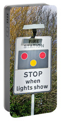 Fire Station Sign Portable Battery Charger