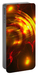 Portable Battery Charger featuring the digital art Fire Storm by Victoria Harrington