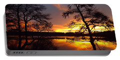 Portable Battery Charger featuring the photograph Sunrise Fire by Dianne Cowen