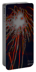 Portable Battery Charger featuring the photograph Fire Works by Mae Wertz