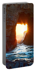 Fireburst - Arch Rock In Pfeiffer Beach In Big Sur. Portable Battery Charger
