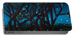 Portable Battery Charger featuring the painting Fireflies by Cheryl Bailey