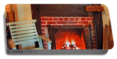 The Family Hearth - Fireplace Old Rocking Chair Portable Battery Charger