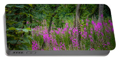 Fireweed In The Irish Countryside Portable Battery Charger