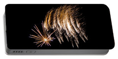 Portable Battery Charger featuring the photograph Fireworks 1 by Susan  McMenamin
