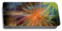 Portable Battery Charger featuring the digital art Fireworks by Christine Fournier