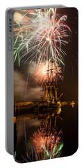 Fireworks Exploding Over Salem's Friendship Portable Battery Charger by Jeff Folger