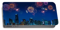 Fireworks In Miami Portable Battery Charger