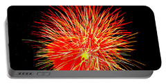 Fireworks In Red And Yellow Portable Battery Charger by Michael Porchik