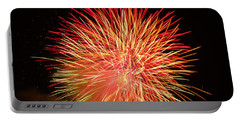 Fireworks  Portable Battery Charger by Michael Porchik