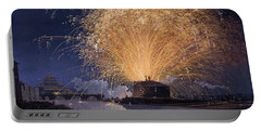 Fireworks Over Castel Sant'angelo In Rome Portable Battery Charger