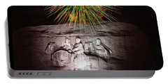 Fireworks Over Stone Mountain Portable Battery Charger