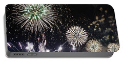 Portable Battery Charger featuring the photograph Fireworks Over The Hudson River by Lilliana Mendez