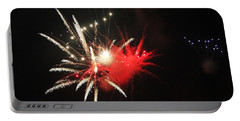 Fireworks Portable Battery Charger by Rowana Ray