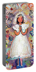 First Communion Girl Portable Battery Charger