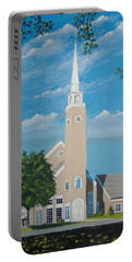 First Congregational Church Portable Battery Charger by Norm Starks