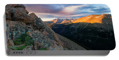 First Light On The Mountain Portable Battery Charger by Ronda Kimbrow