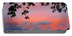 Portable Battery Charger featuring the photograph First October Sunset by Kathryn Meyer
