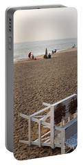First On The Beach At Bethany Beach In Delaware Portable Battery Charger