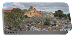 First Snow At Garden Of The Gods Portable Battery Charger by Diane Alexander
