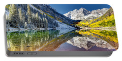 First Snow Maroon Bells Portable Battery Charger