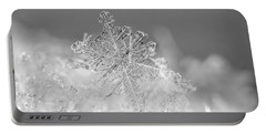 Portable Battery Charger featuring the photograph First Snowflake by Rona Black