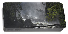 Portable Battery Charger featuring the photograph Fish Creek Mist by Don Schwartz