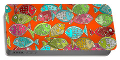 Fish Orange Portable Battery Charger