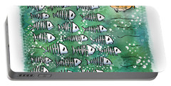 Fish School Reunion Portable Battery Charger