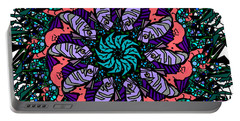 Portable Battery Charger featuring the digital art Fish / Seahorse #2 by Elizabeth McTaggart