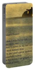 Fisherman's Prayer Portable Battery Charger by Robert Frederick