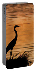 Fishing At Sunset Portable Battery Charger