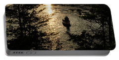 Fishing At Sunset - Thousand Islands Saint Lawrence River Portable Battery Charger