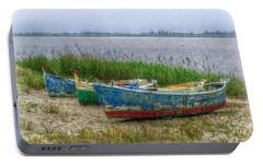 Portable Battery Charger featuring the photograph Fishing Boats by Hanny Heim