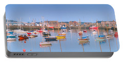 Fishing Boats In The Howth Marina Portable Battery Charger by Semmick Photo