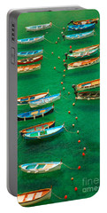 Fishing Boats In Vernazza Portable Battery Charger by David Smith