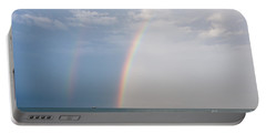 Fishing For A Pot Of Gold Portable Battery Charger by Paul Rebmann